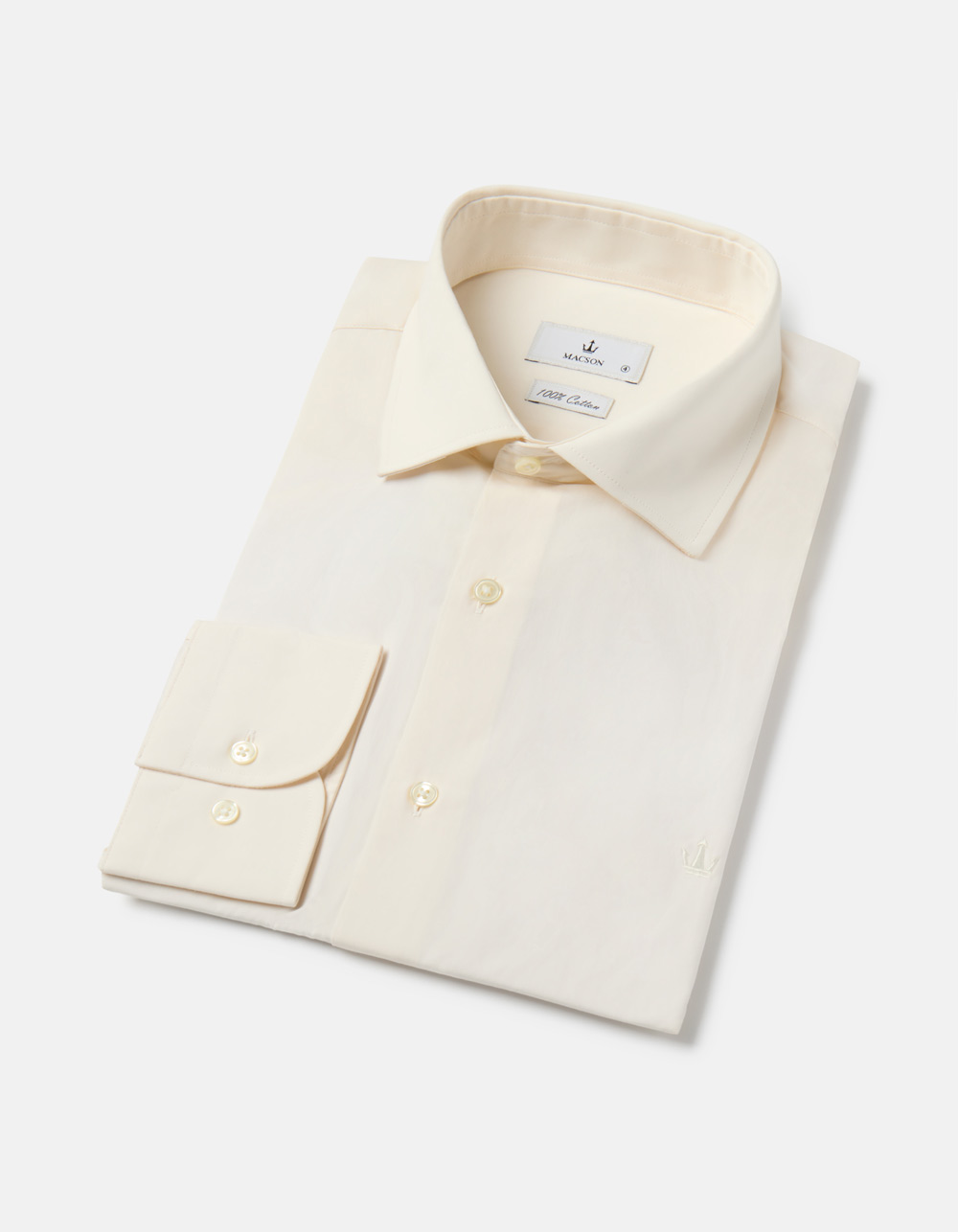 Beige plain shirt