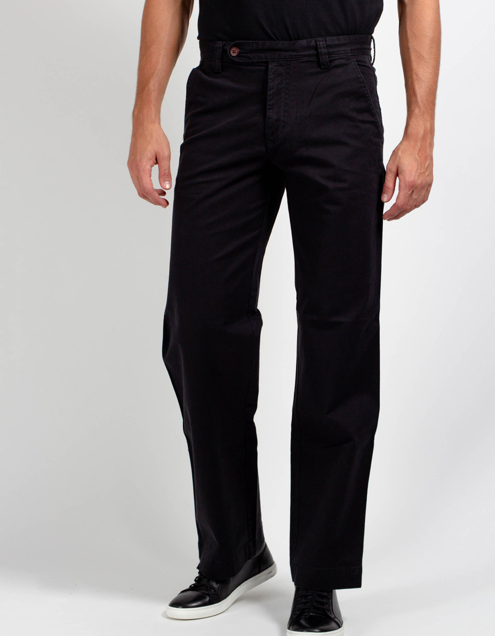 Black chinos trousers