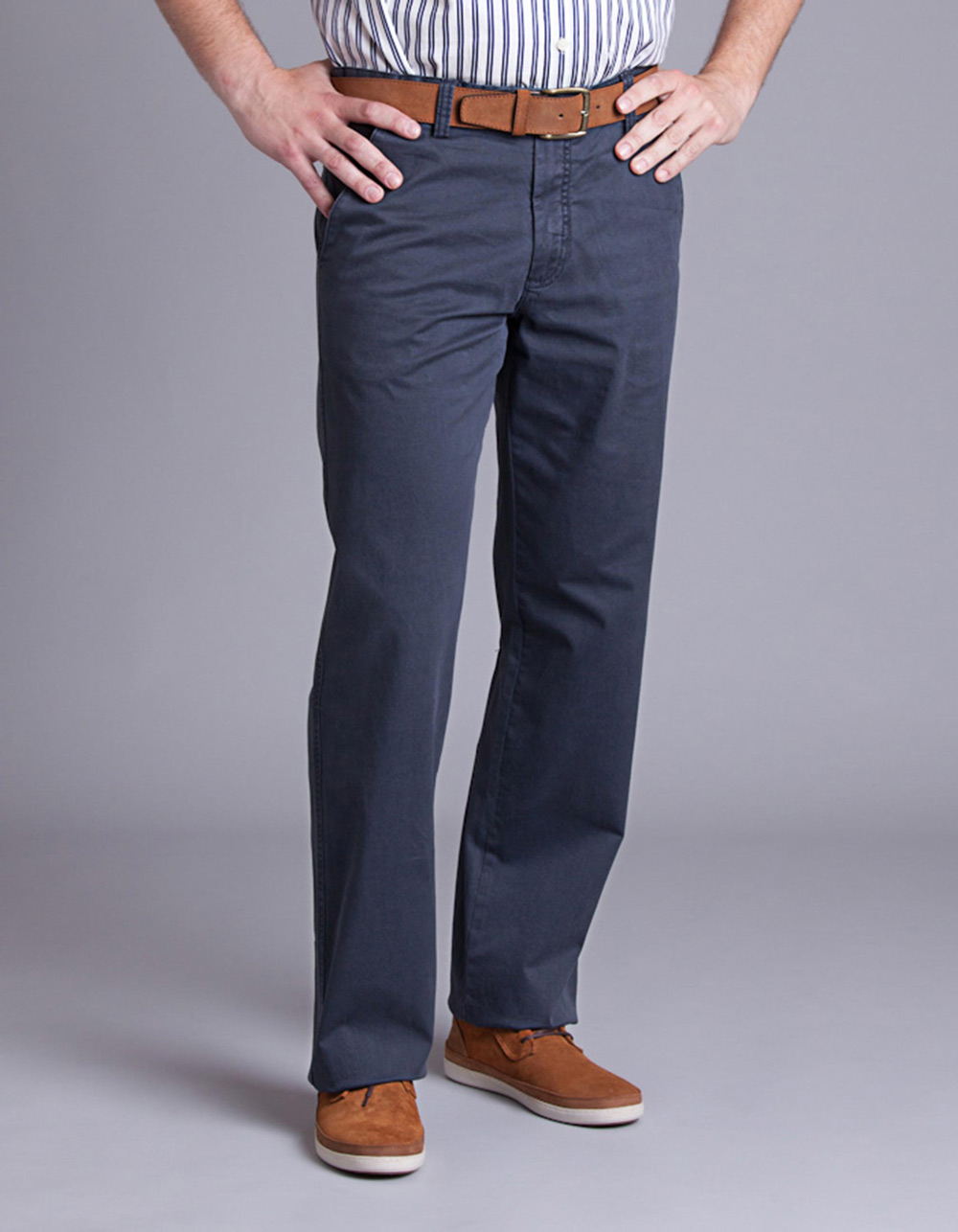 Navy chinos trousers