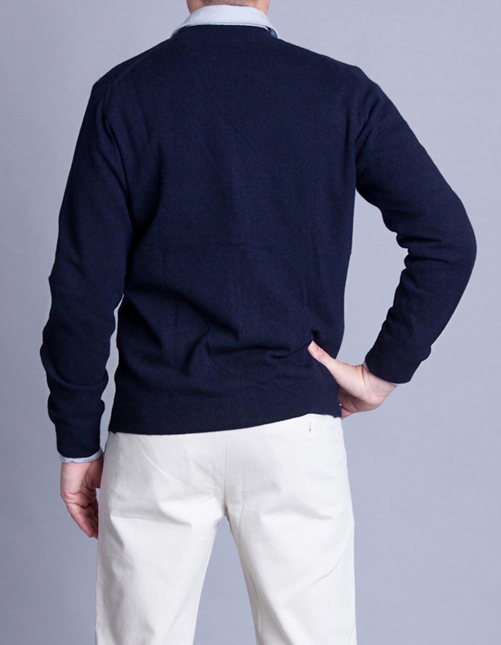 Navy cardigan - Backside