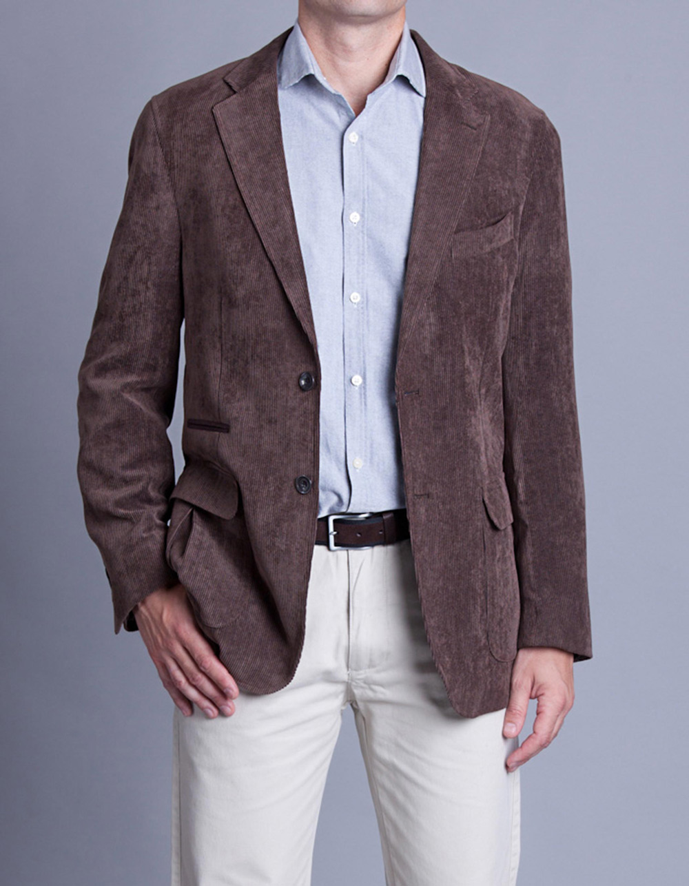 Corduroy jacket with elbow pads