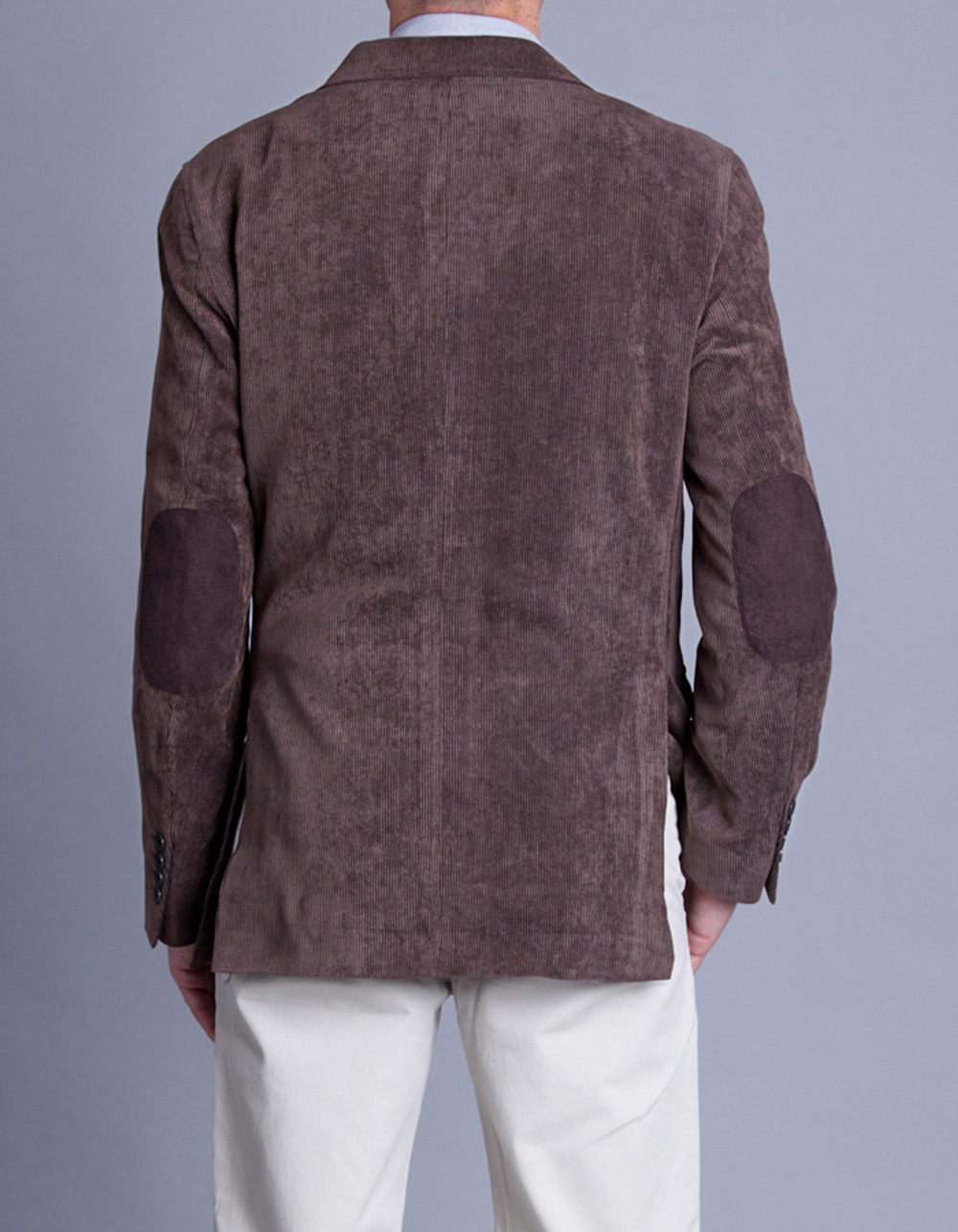 Corduroy jacket with elbow pads - Backside