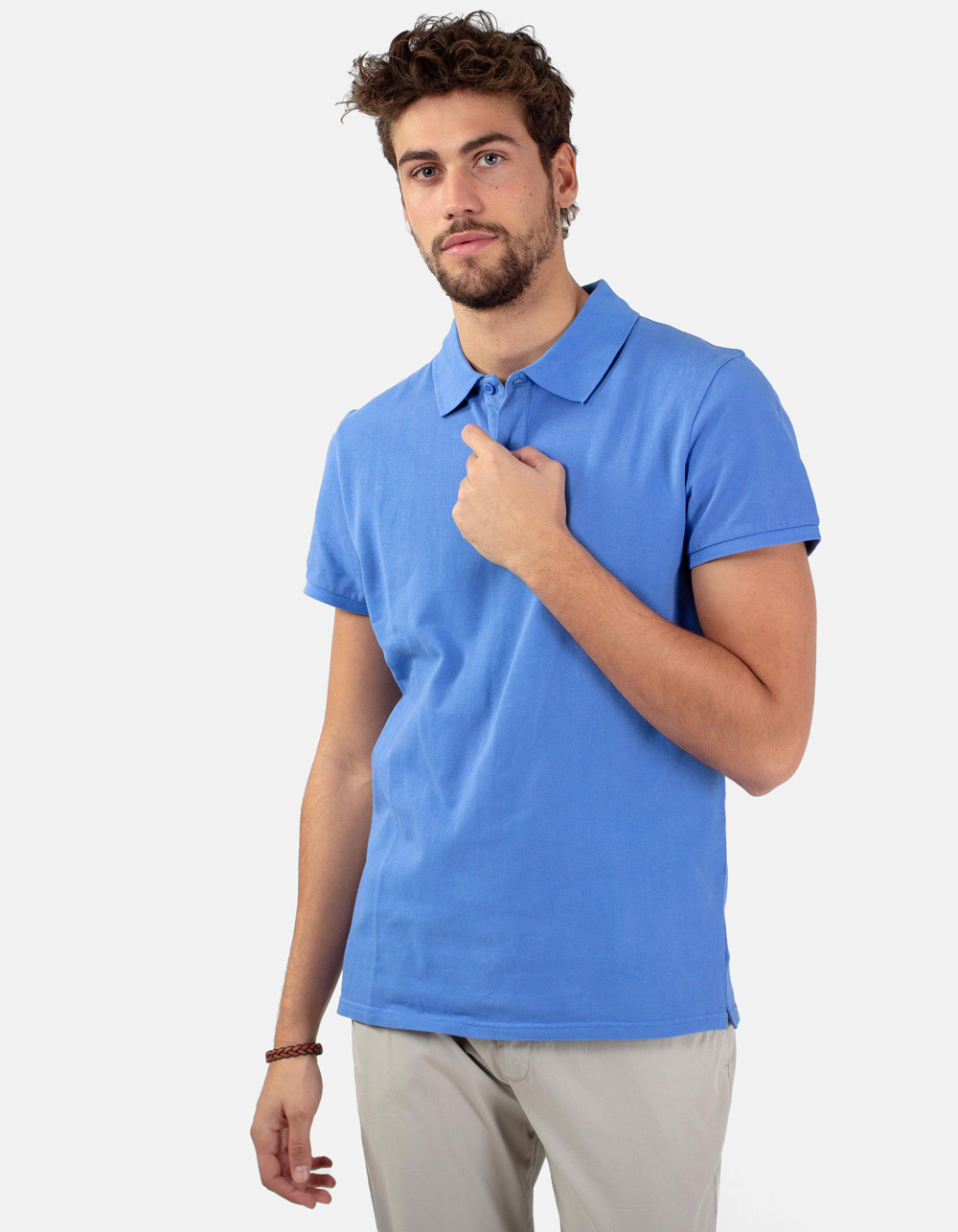 Blue sky basic piqué polo shirt
