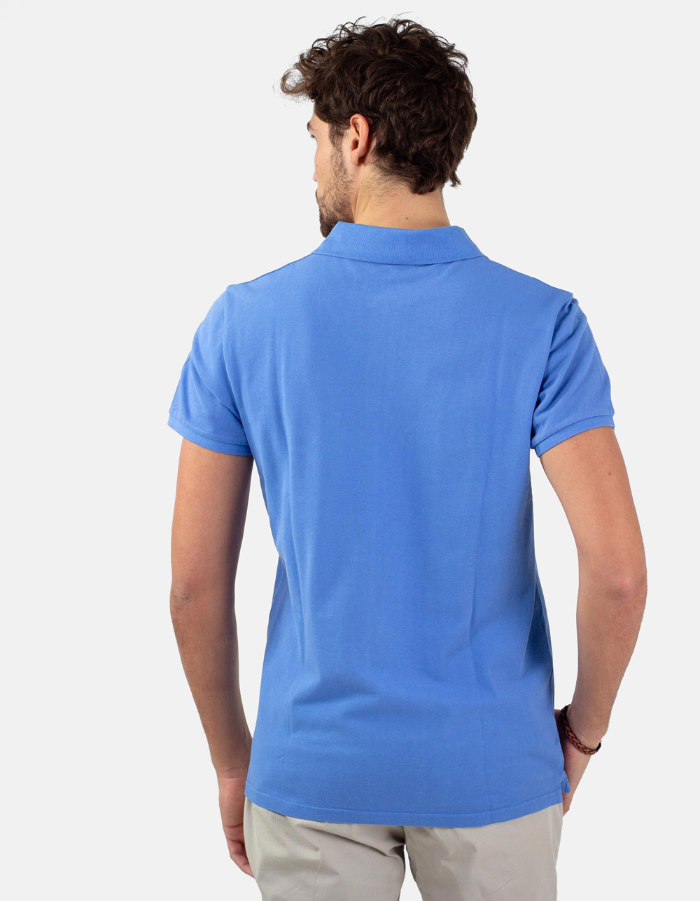 Blue sky basic piqué polo shirt - Backside