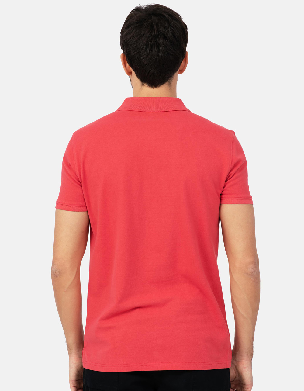 Coral basic piqué polo shirt - Backside