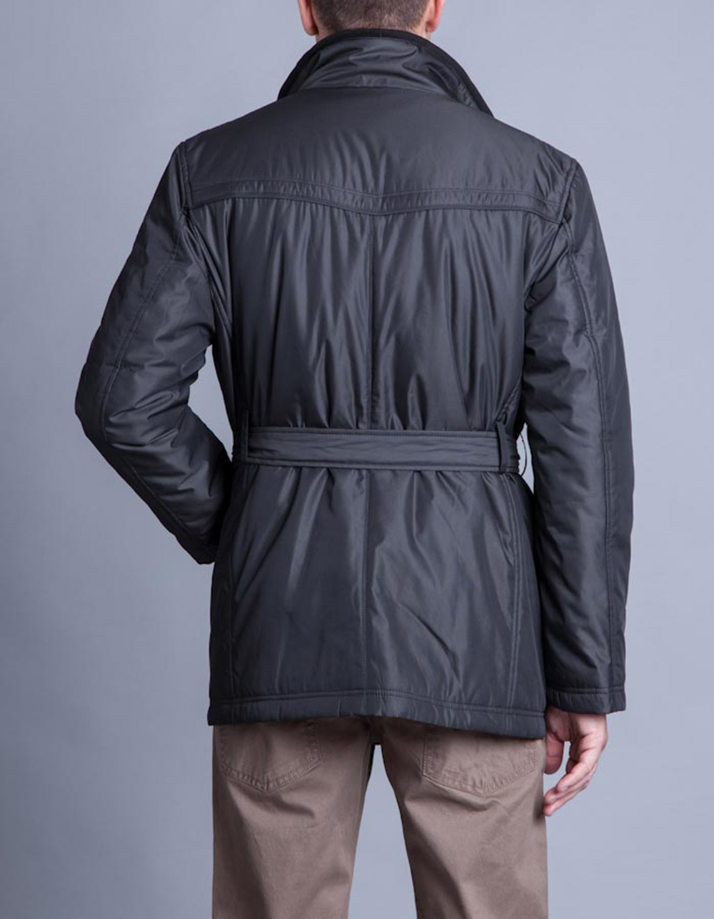 Charcoal quilted Parka - Backside