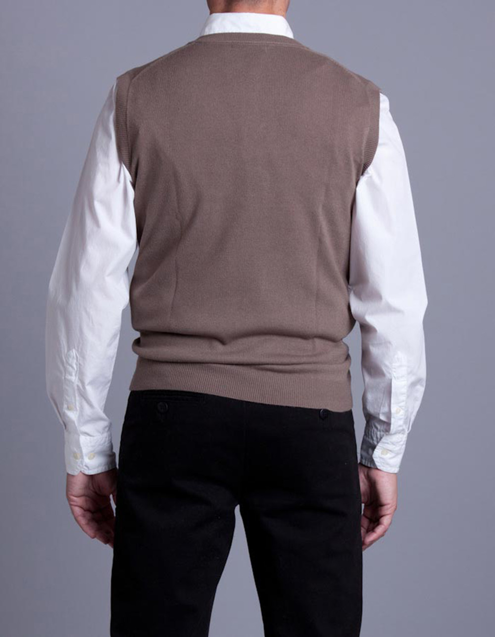 Toasted Knitted waistcoat - Backside