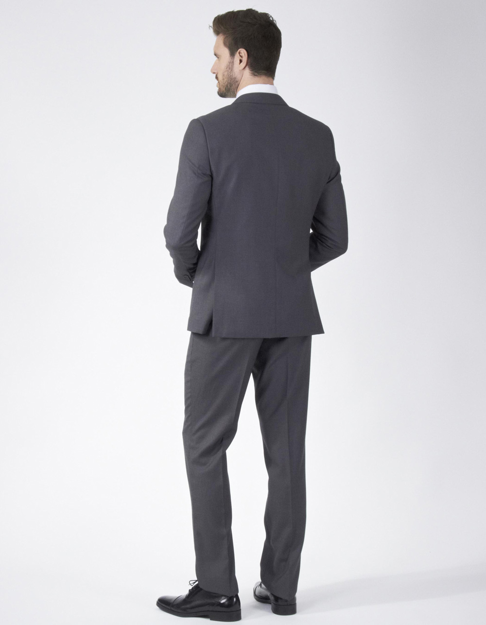 Charcoal grey plain suit - Backside