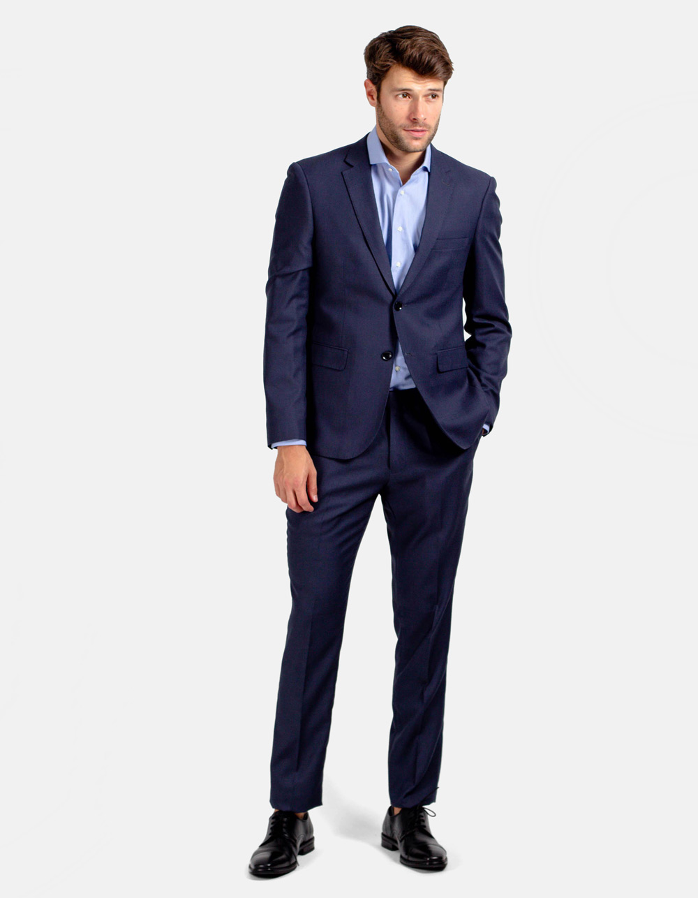Navy blue plain suit