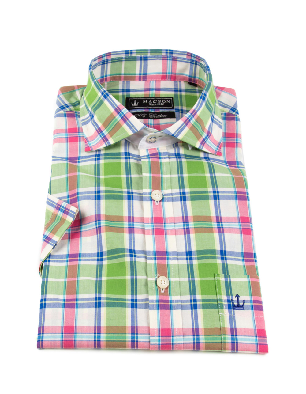 Checked cotton shirt - Backside