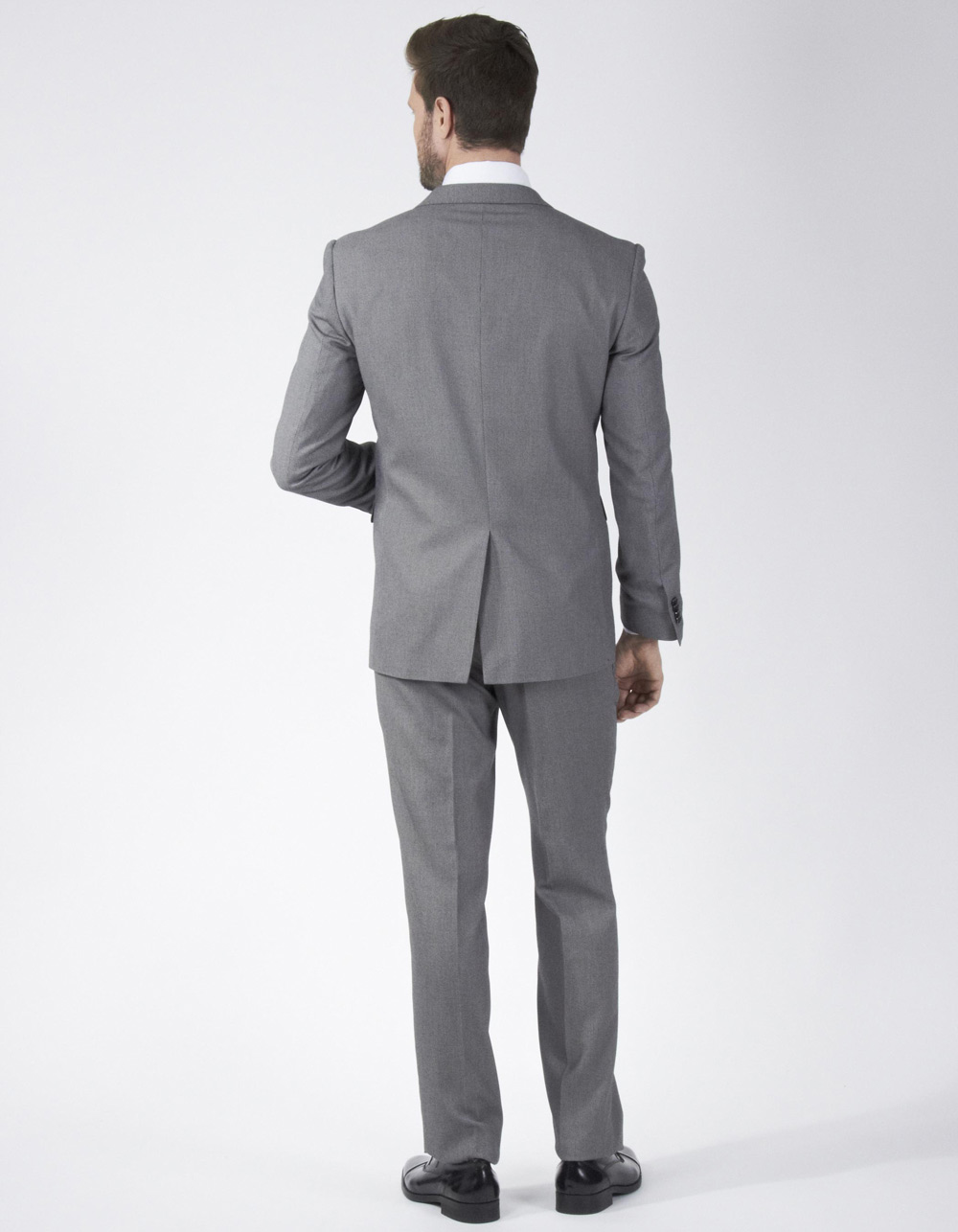 Grey fabric tweed suit - Backside