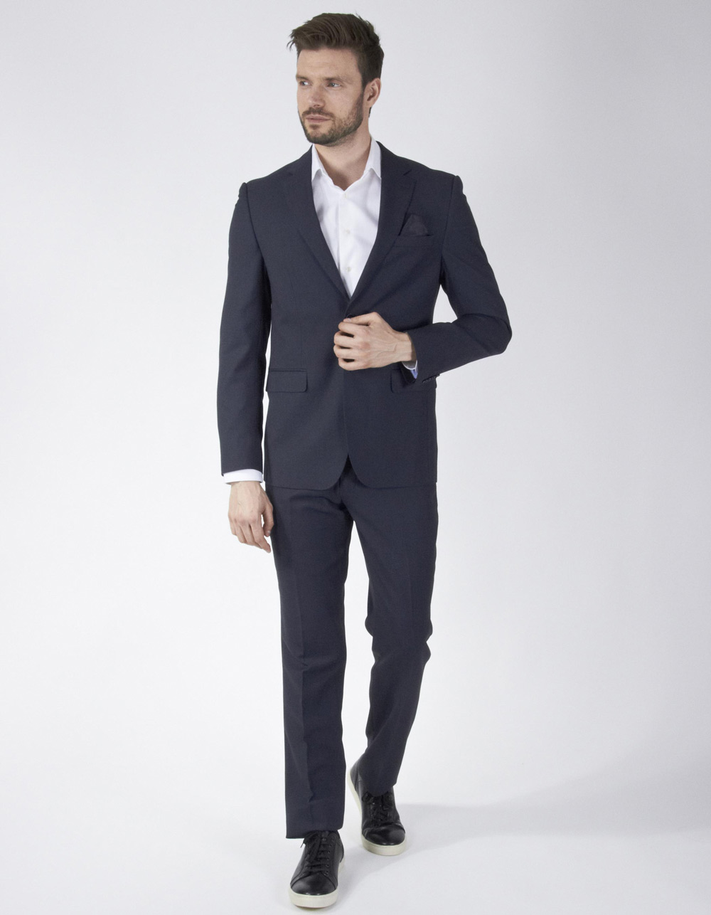Navy blue Oxford suit