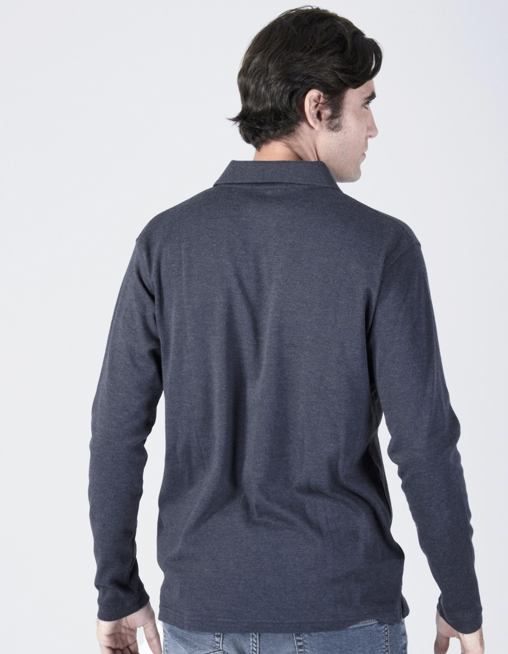 Polo lavado azul marino - Backside