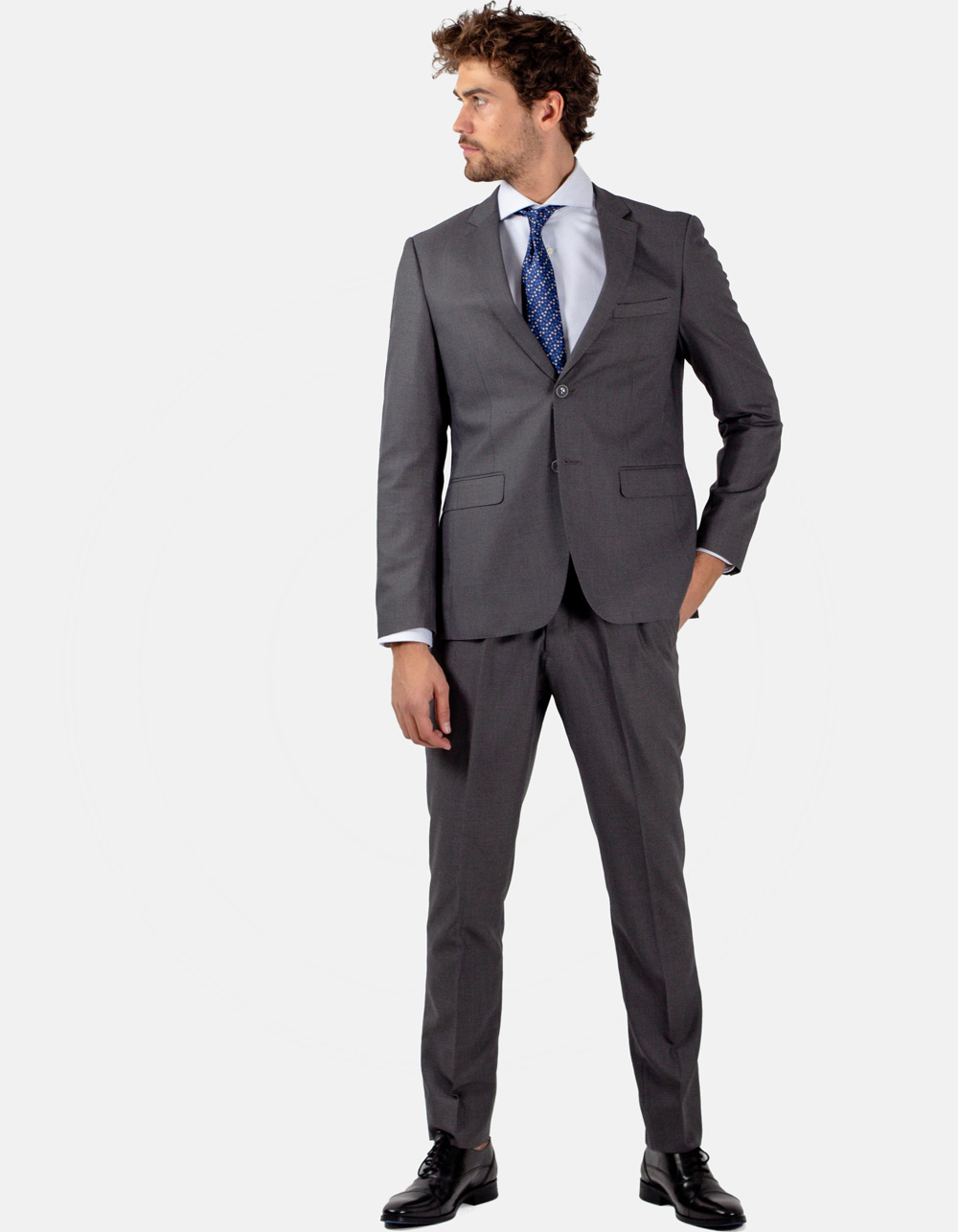 Grey plain suit