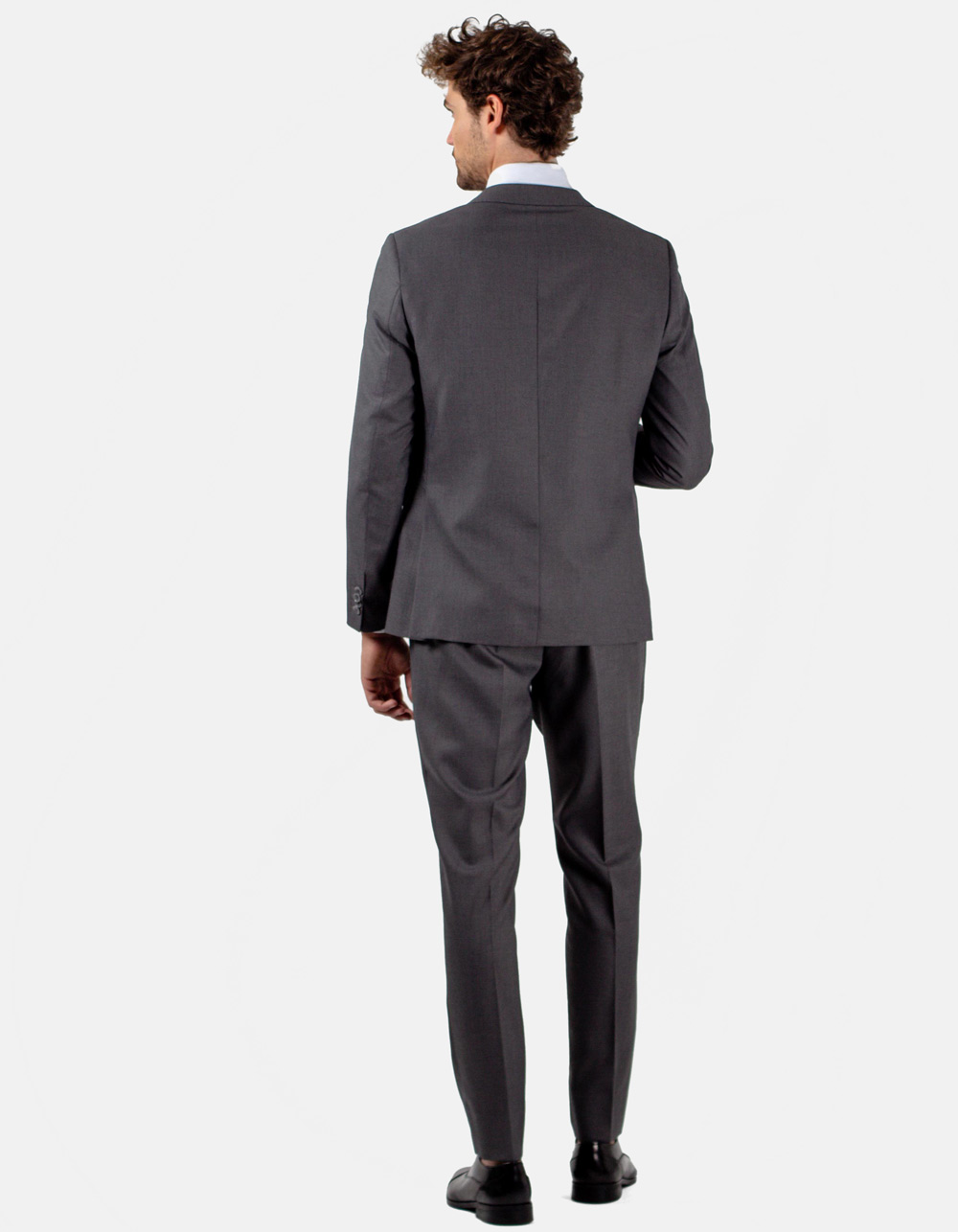 Grey plain suit - Backside