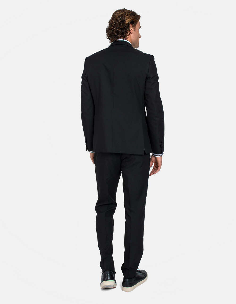 Black plain suit - Backside
