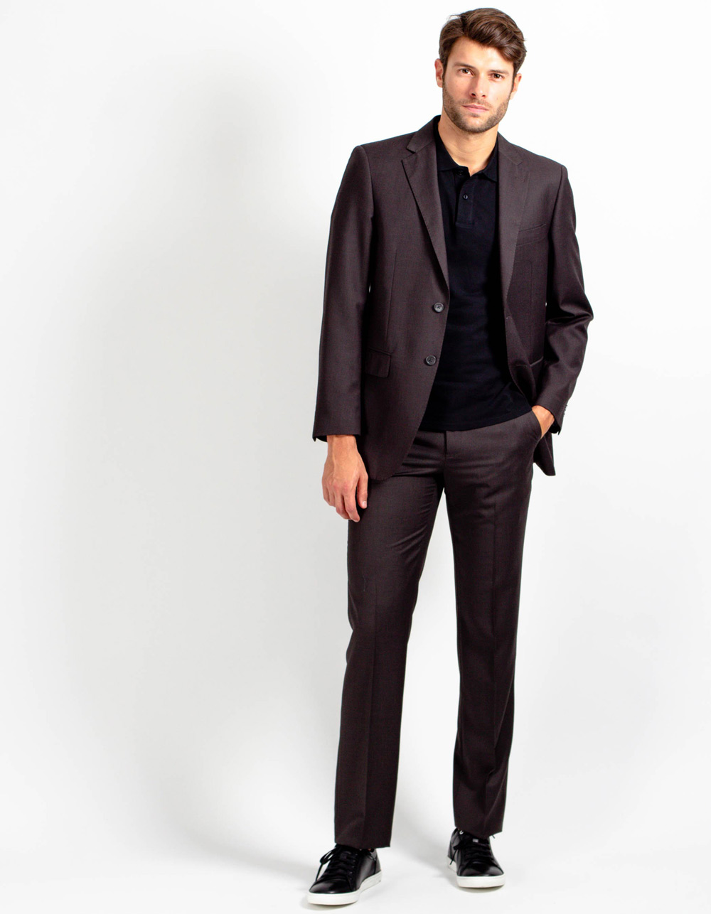Brown plain suit