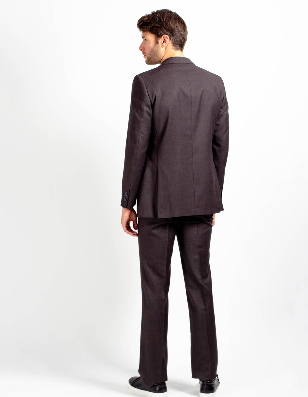 Traje liso marrón - Backside