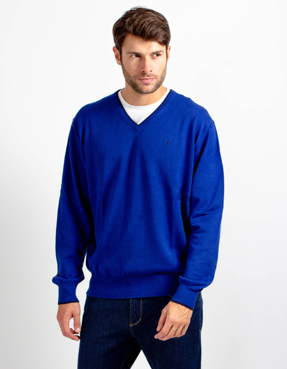 Navy blue V-Neck sweater