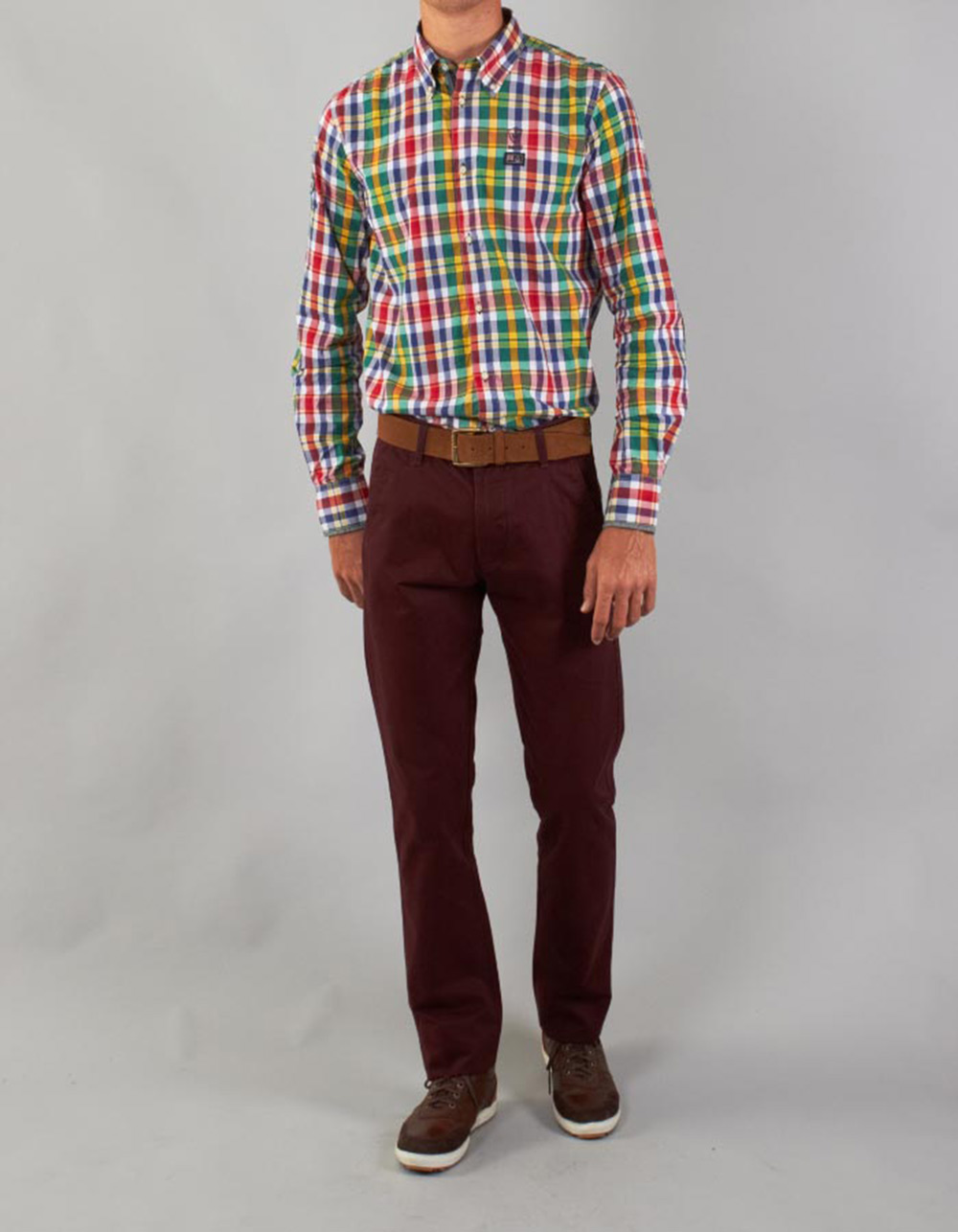 Garnet chinos trousers