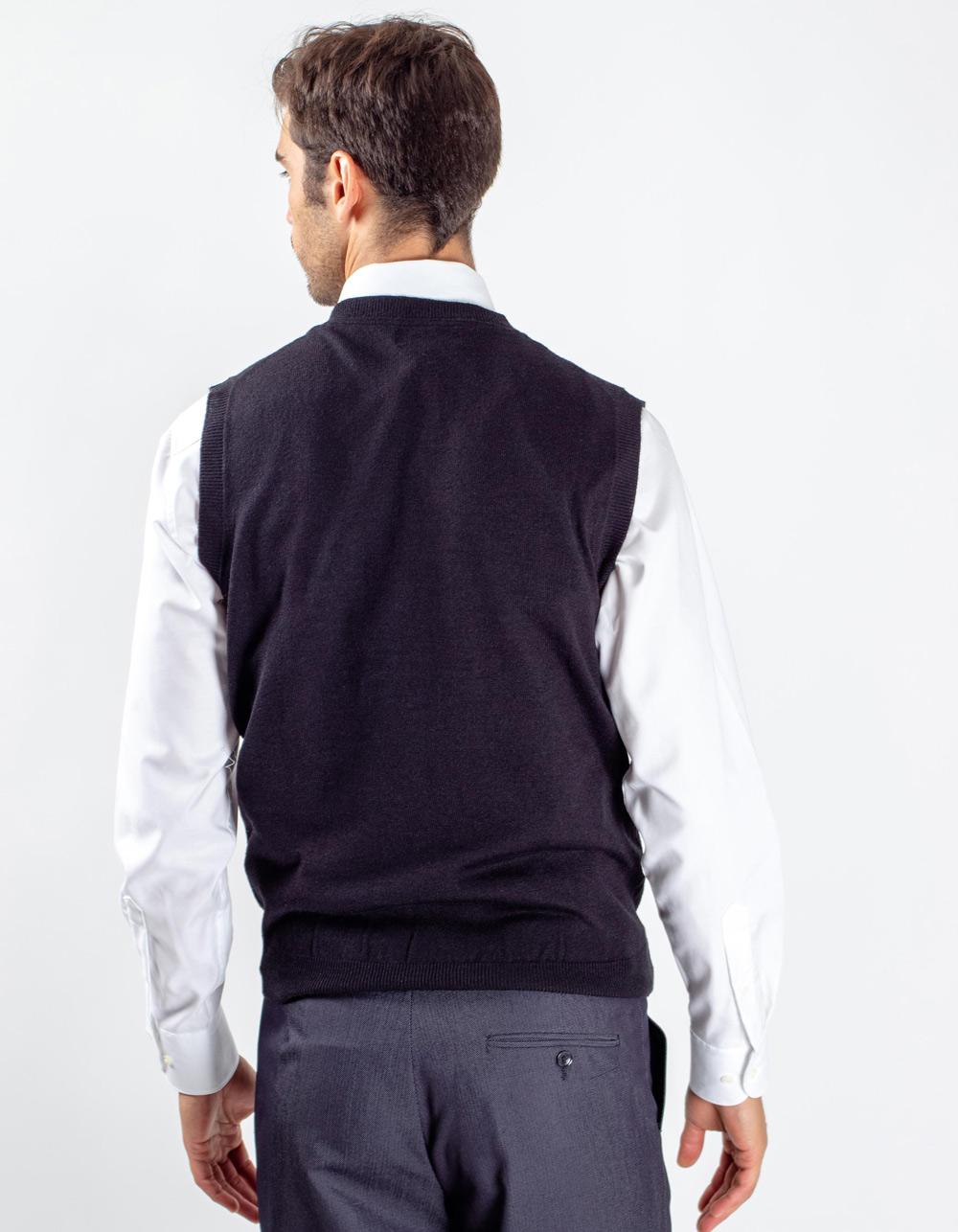 Black knitted waistcoat - Backside