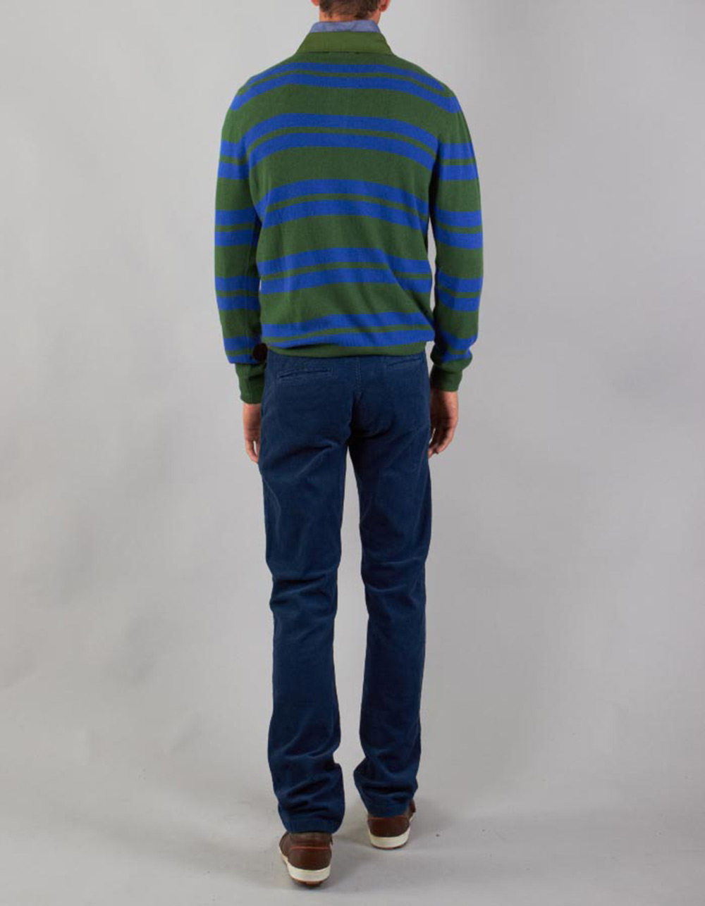 Striped long sleeve polo - Backside