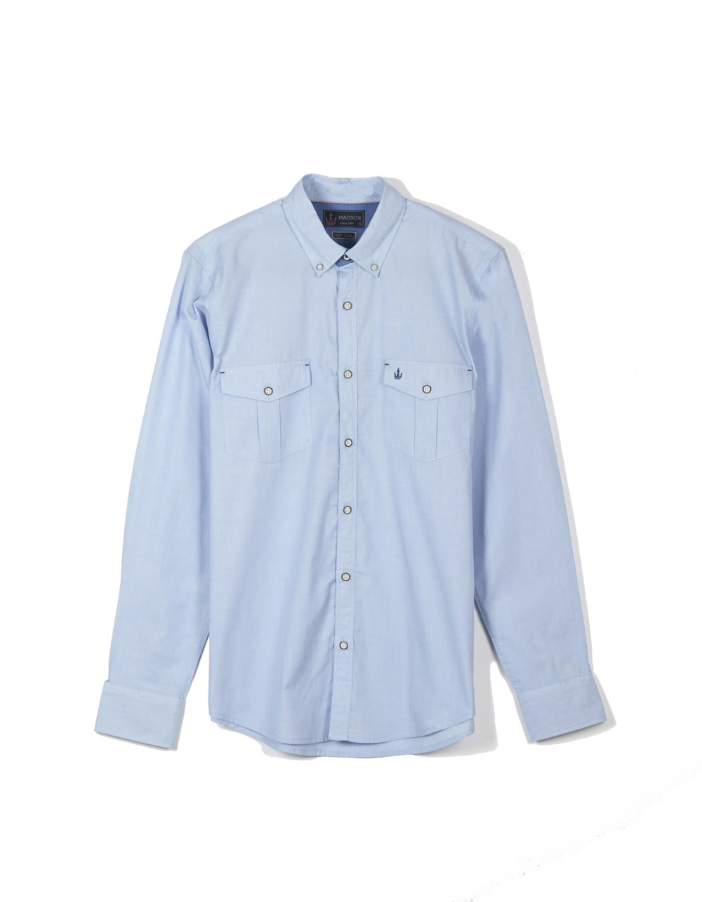 Light blue fil à fil shirt