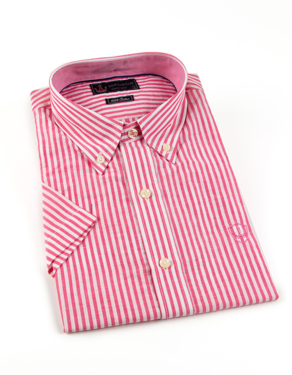Red striped shirt short sleeve