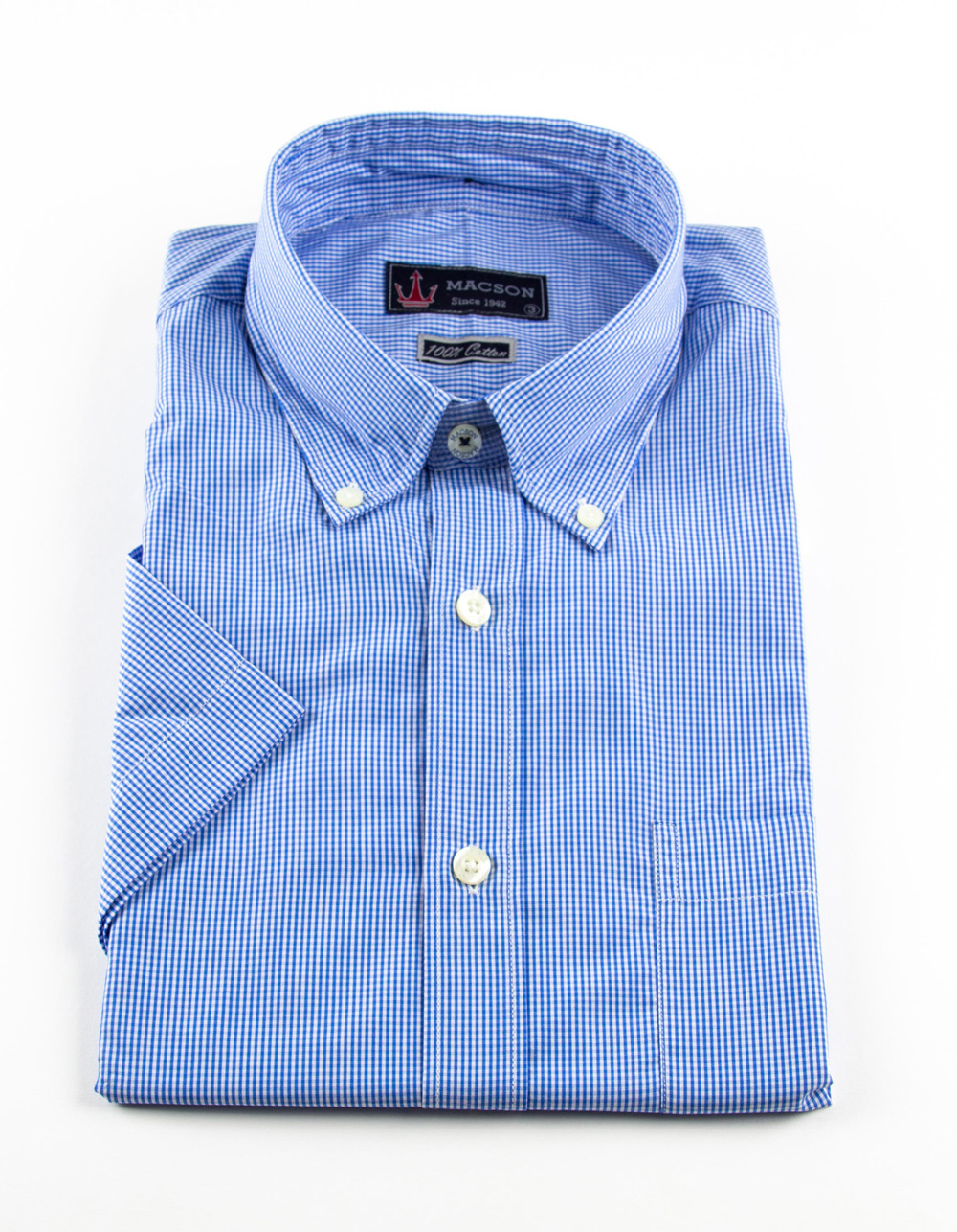 Gingham shirt Short Sleeve - Backside