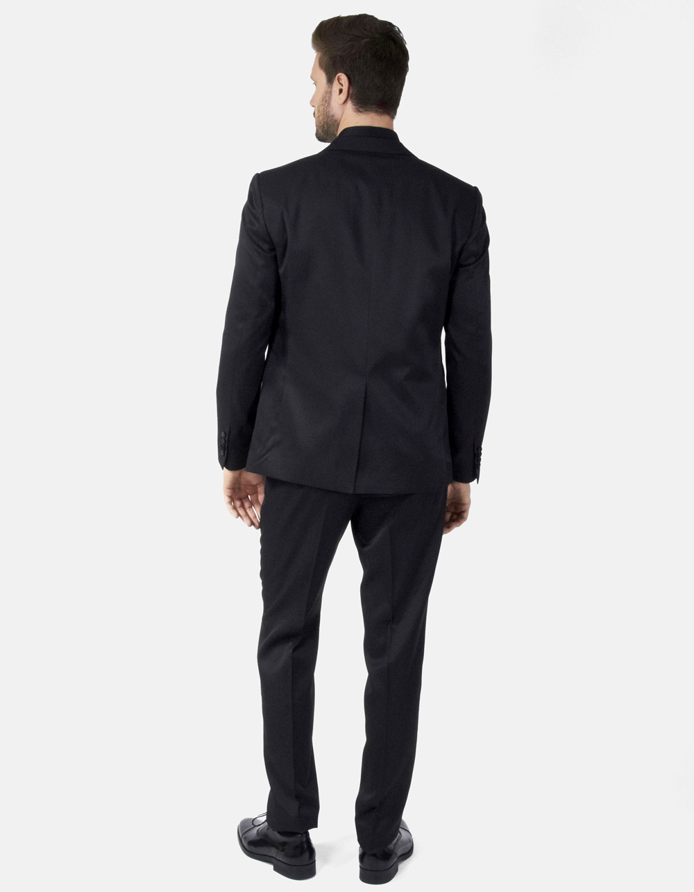 Navy blue plain suit - Backside