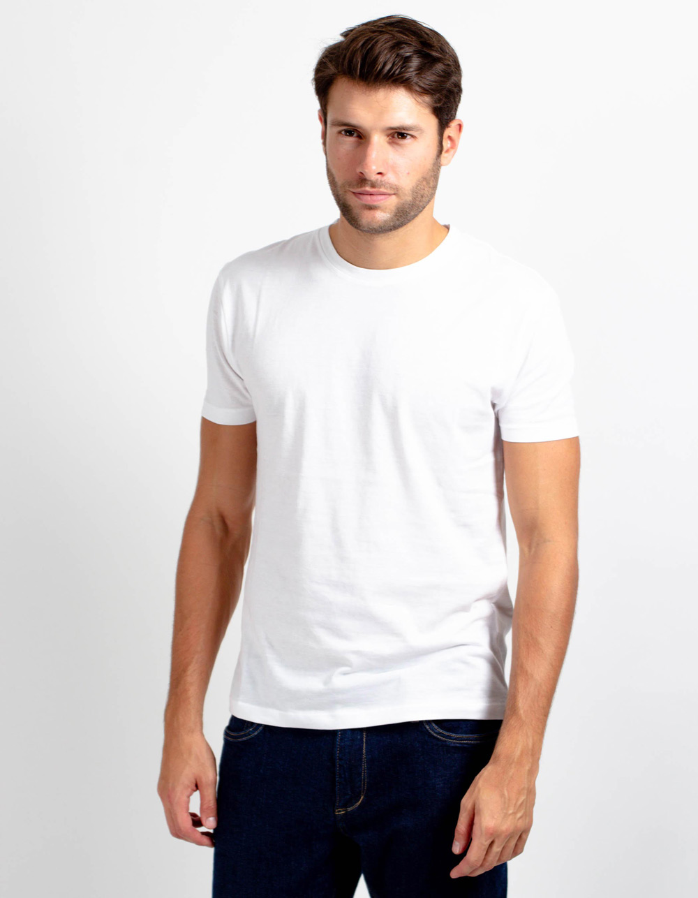 White short sleeve plain t-shirt