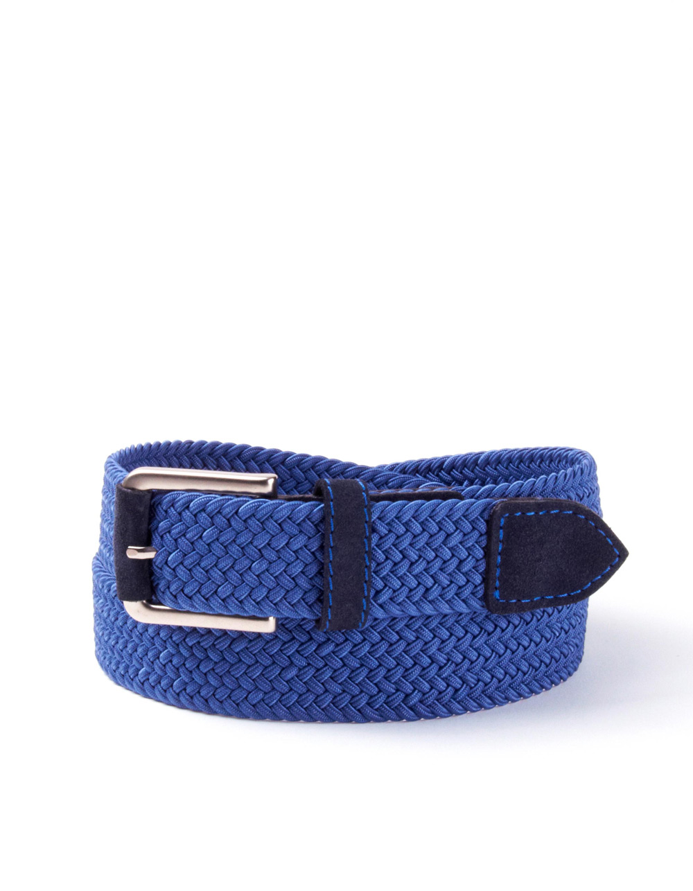 Blue plaited belt