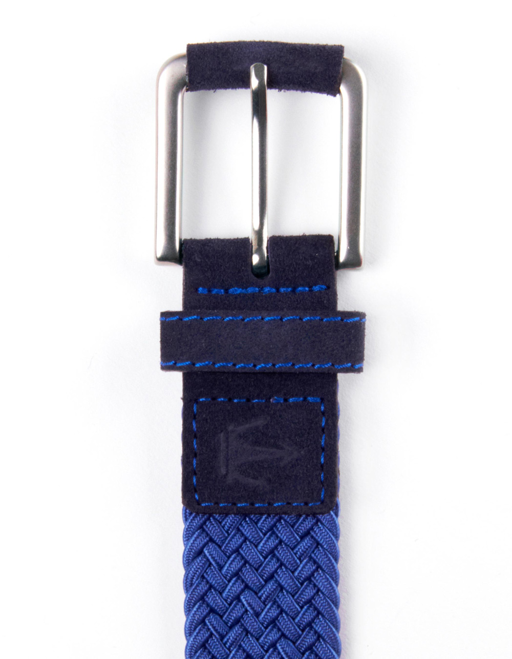 Blue plaited belt - Backside