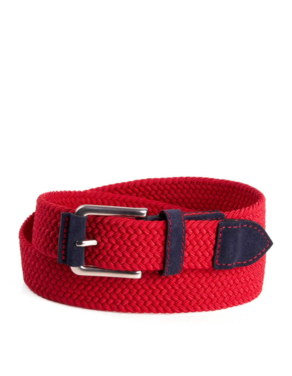 Red plaited belt