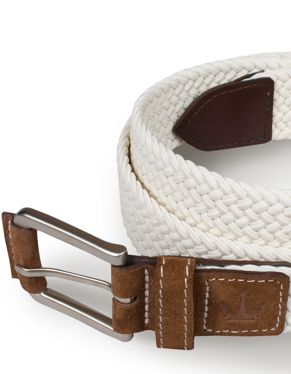 White plaited belt - Backside