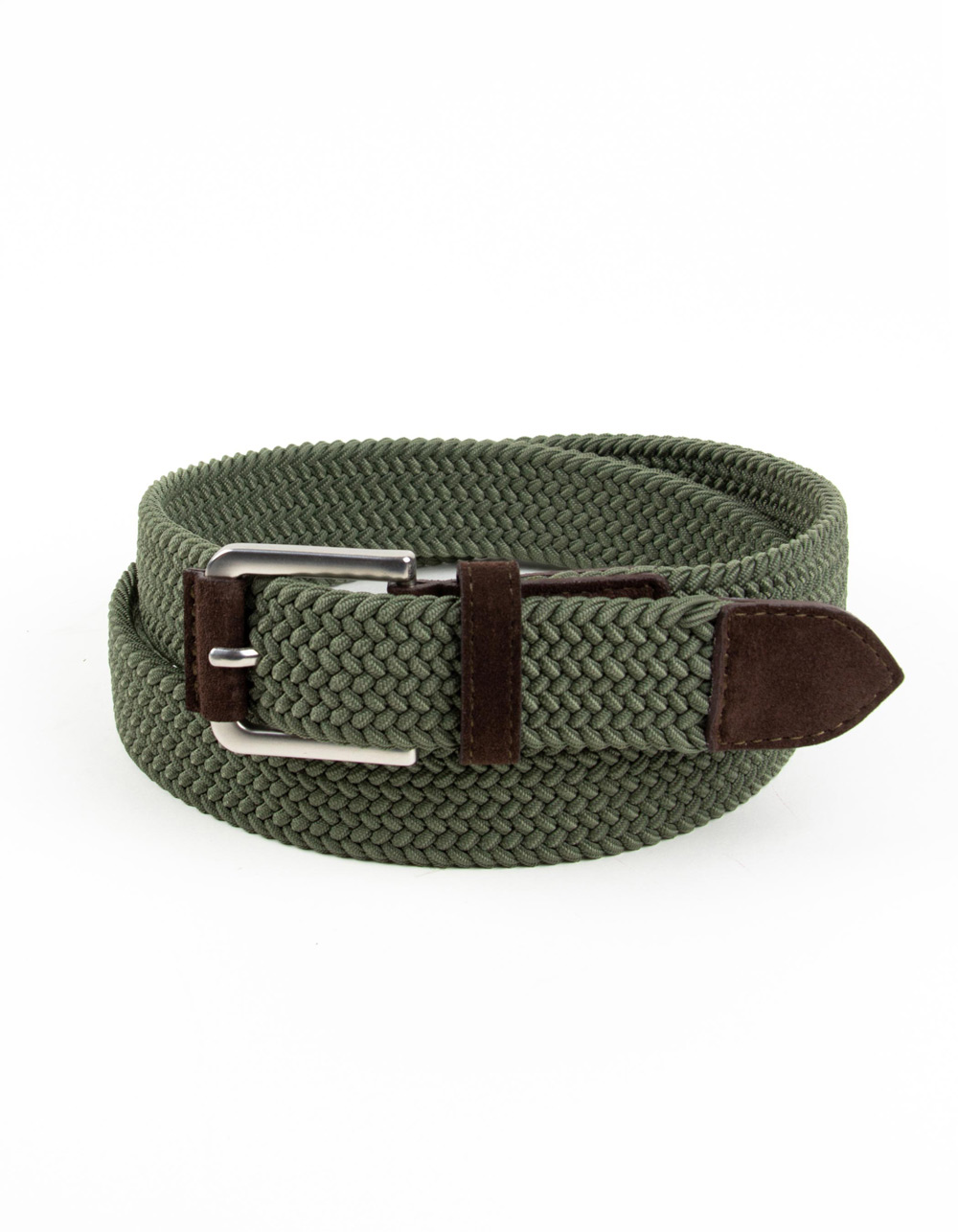 Green plaited belt