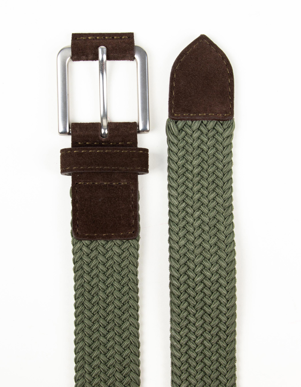Green plaited belt - Backside