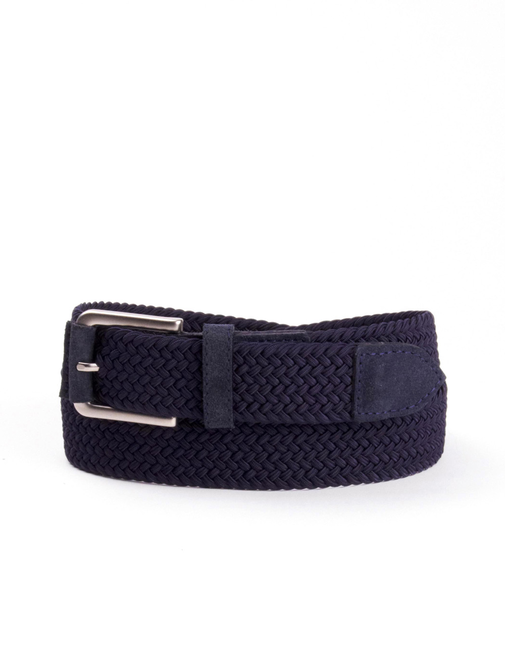 Navy blue plaited belt