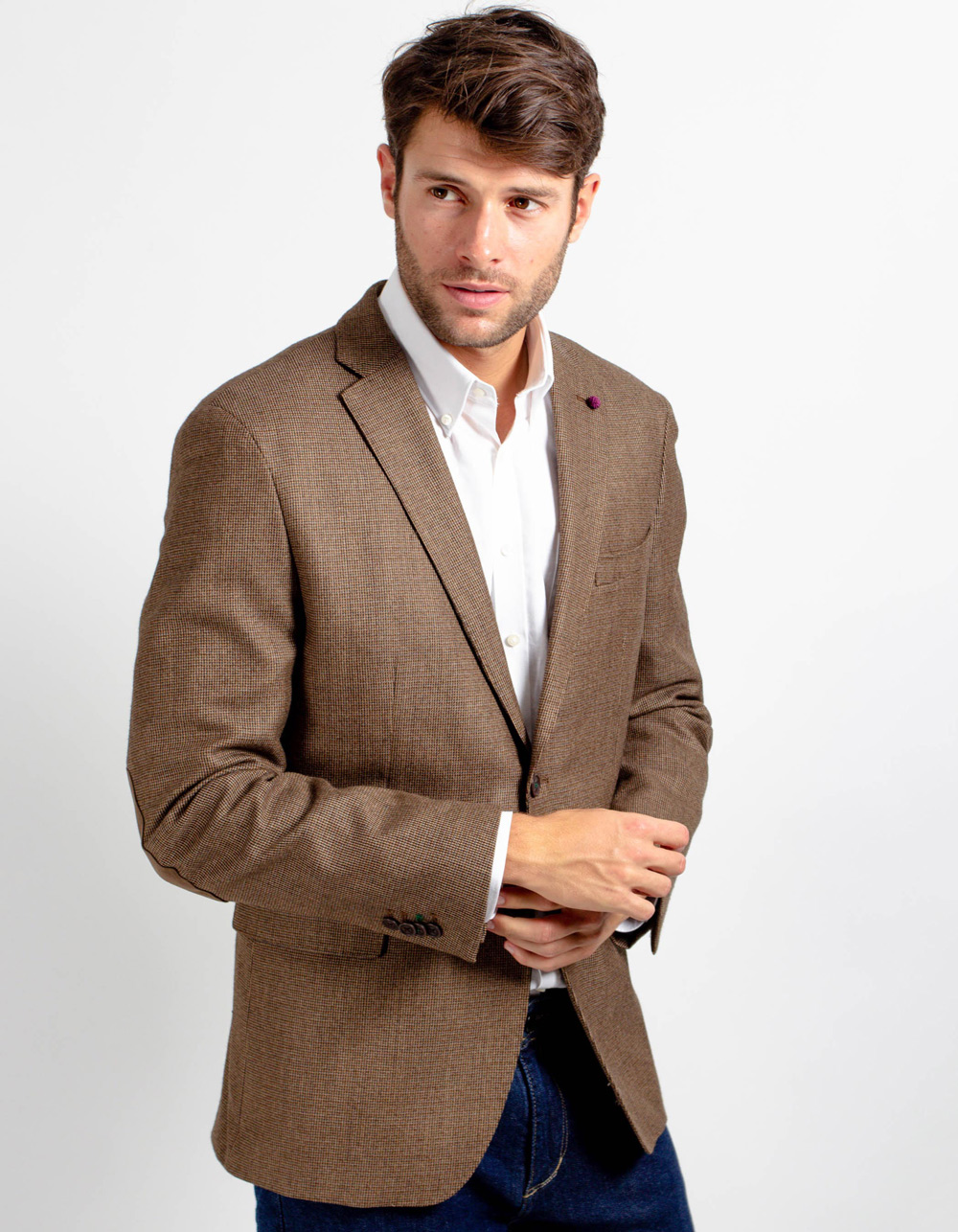Brown structure blazer