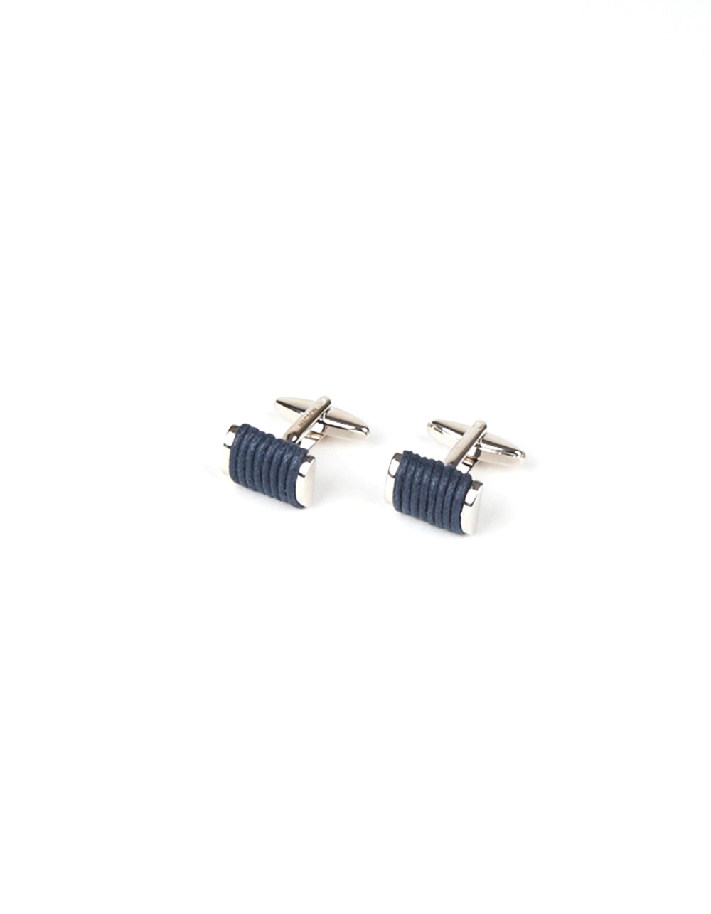 Metallic dark blue cufflinks