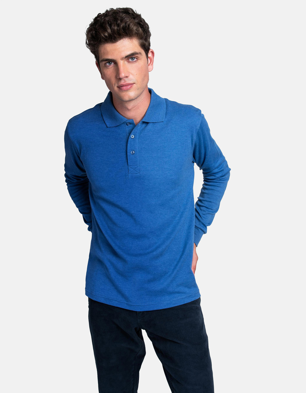 Blue royal washed polo shirt