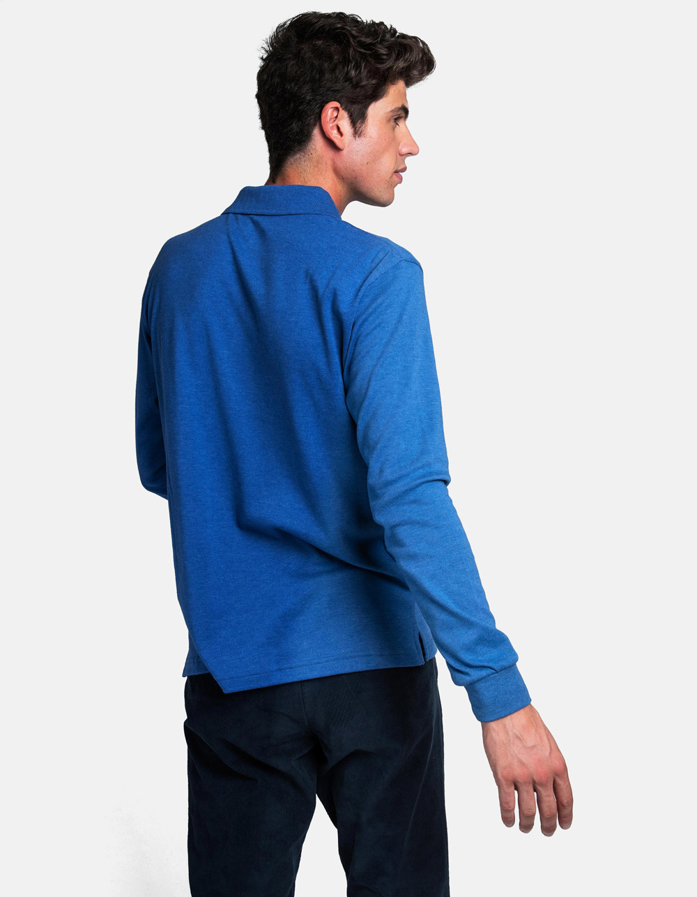 Blue royal washed polo shirt - Backside