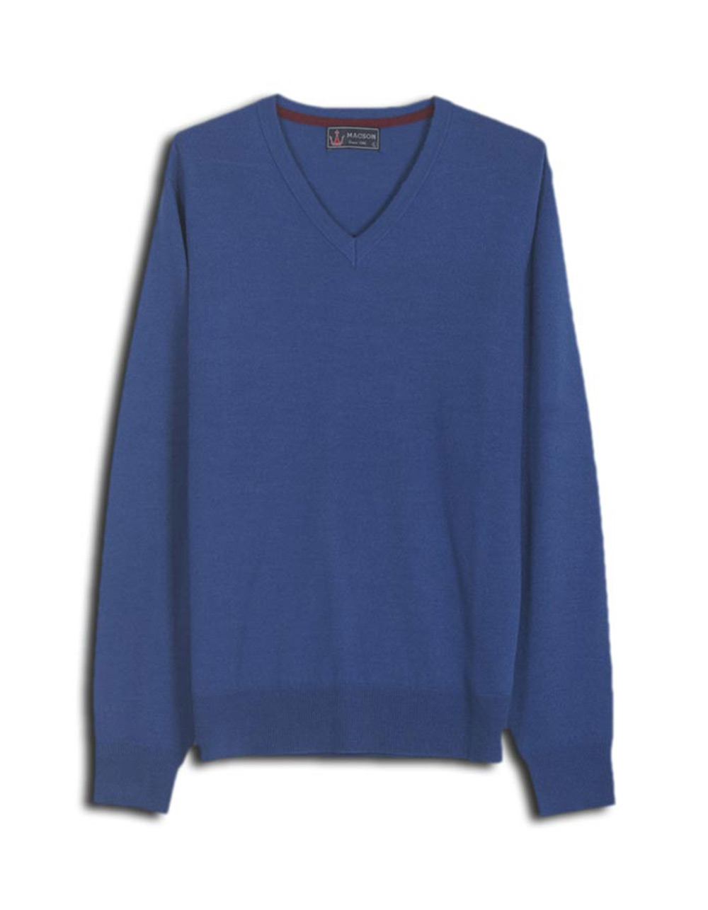 Deep blue v-neck sweater - Backside