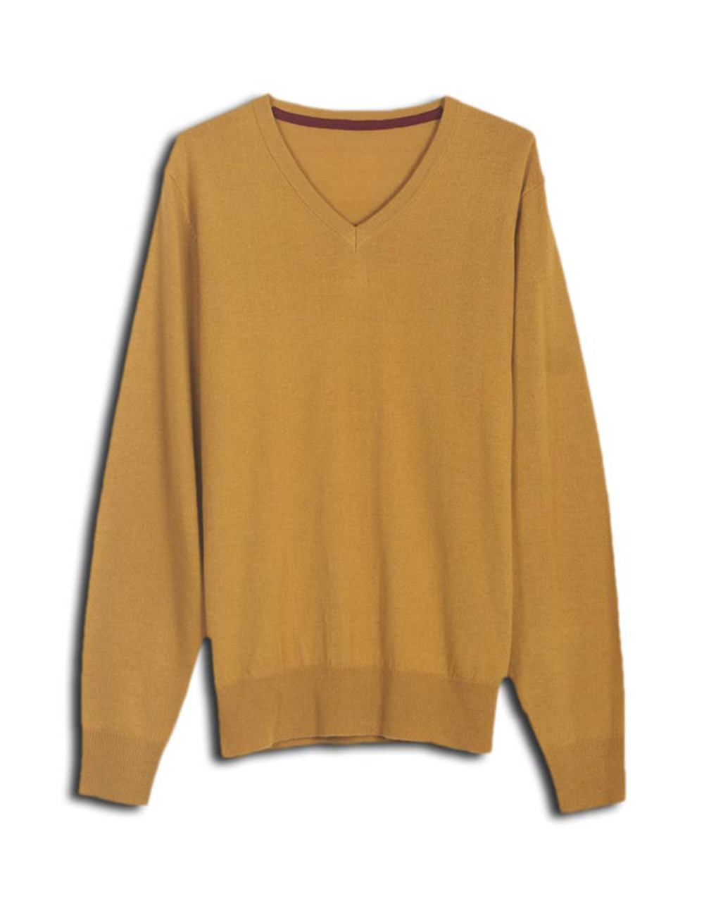 Mustard plain jersey - Backside