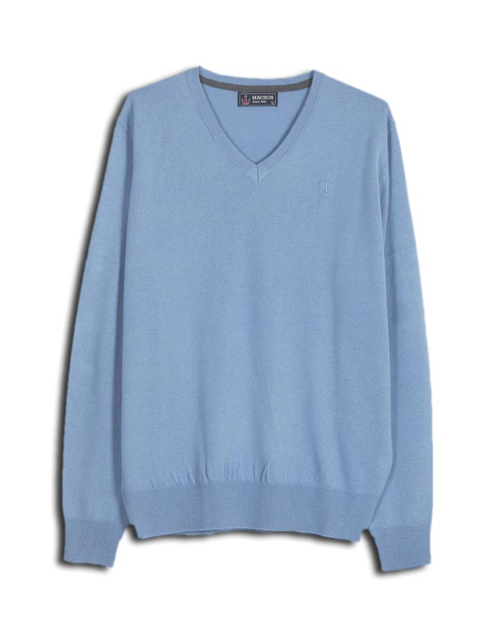 Sky blue v-neck sweater - Backside
