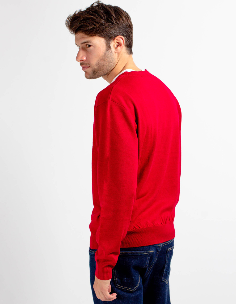 Jersey de cuello pico rojo - Backside