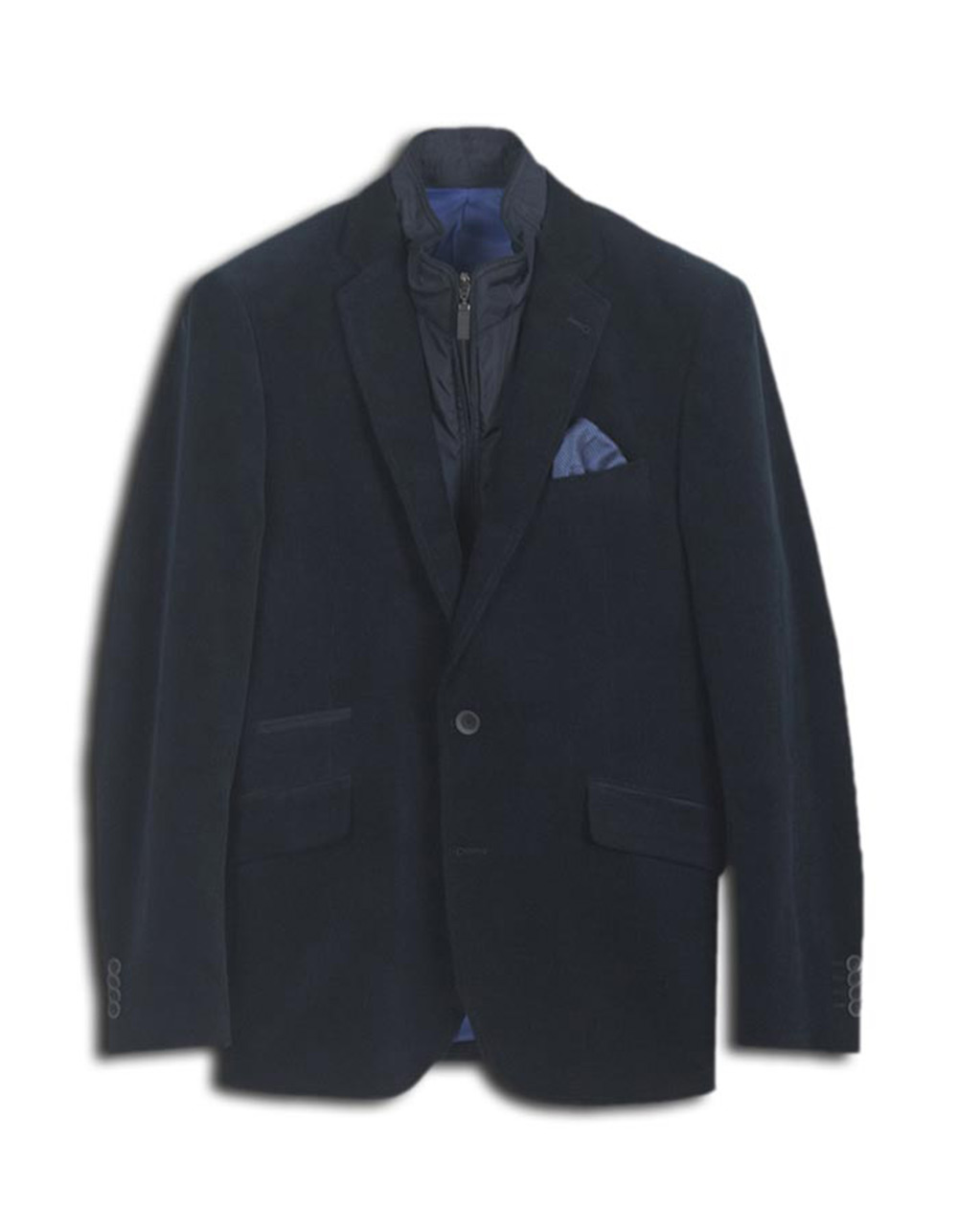 Navy blue casual Jacket - Backside