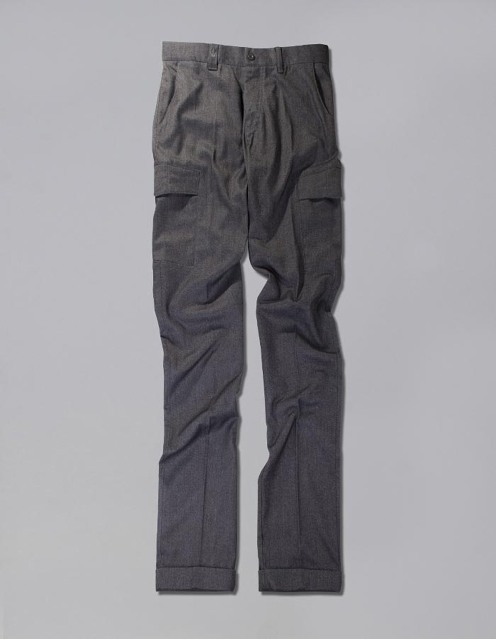 Grey cargo trousers - Backside