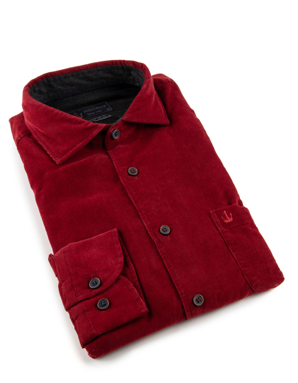 Red finest corduroy shirt