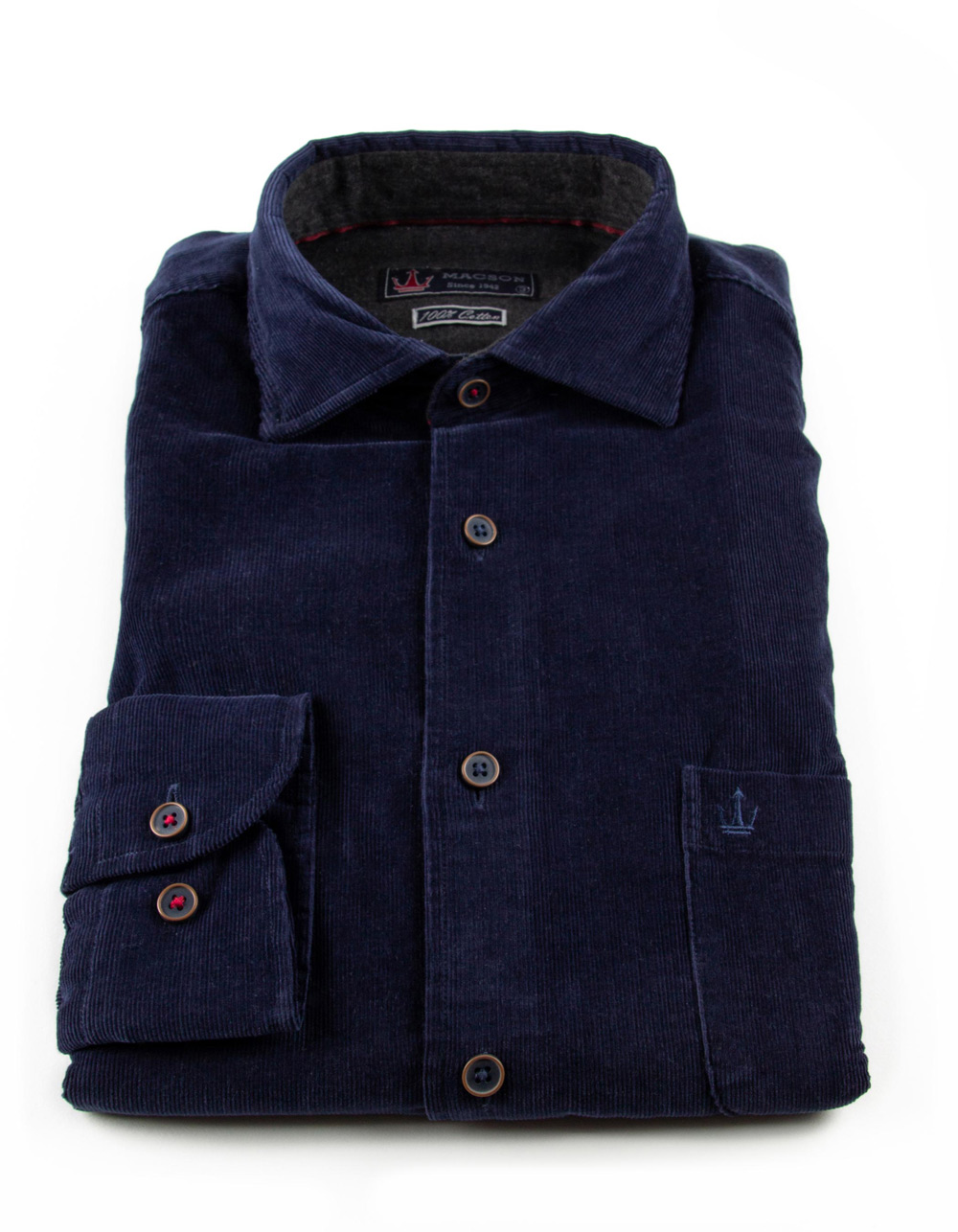 Blue finest corduroy shirt - Backside